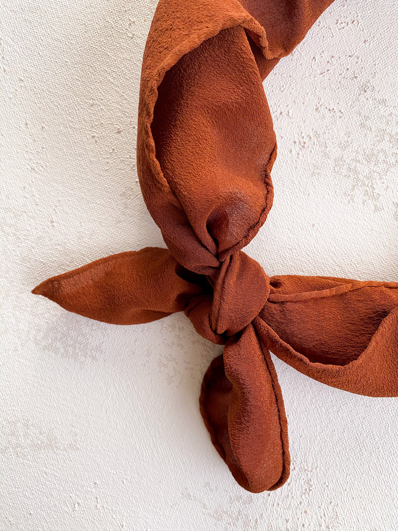 Rusty Orange Silk Scarf 'The Scout' 083