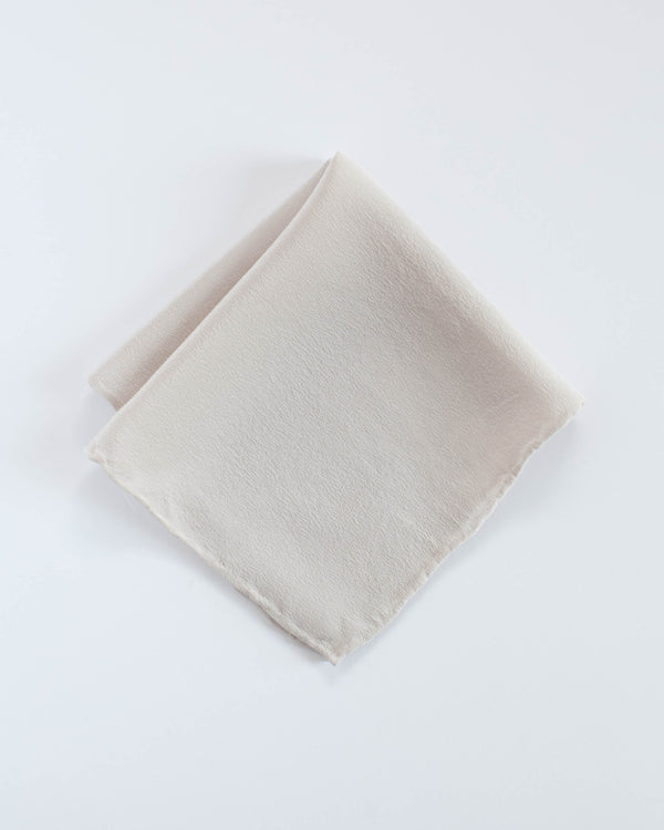 'The Hankie' Washable Silk Scarf in Bone