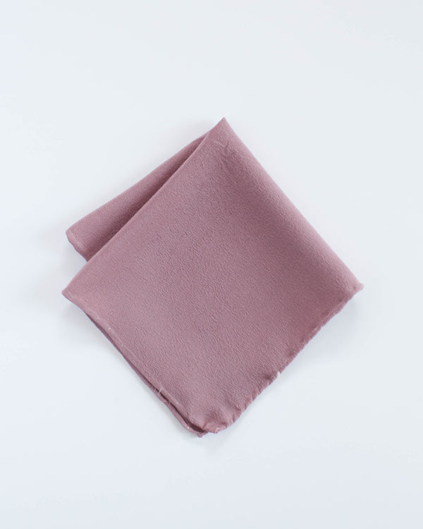 'The Hankie' Washable Silk Scarf in Rose