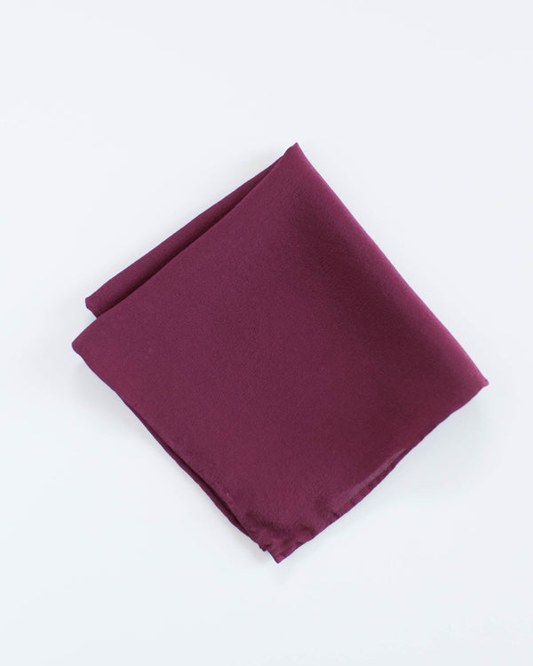 'The Hankie' Washable Silk Scarf in Berry