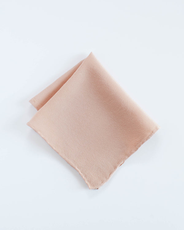 'The Hankie' Washable Silk Scarf in Peach