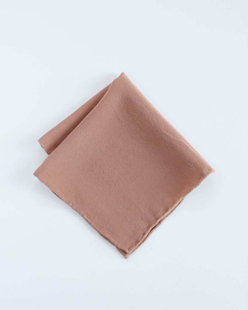 'The Hankie' Washable Silk Scarf in Rose Gold