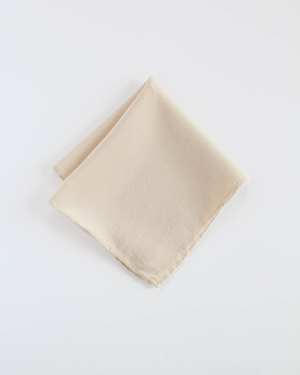 'The Hankie' Washable Silk Scarf in Cream
