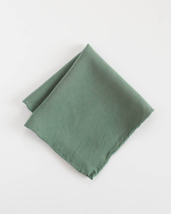 'The Hankie' Washable Silk Scarf in Fern