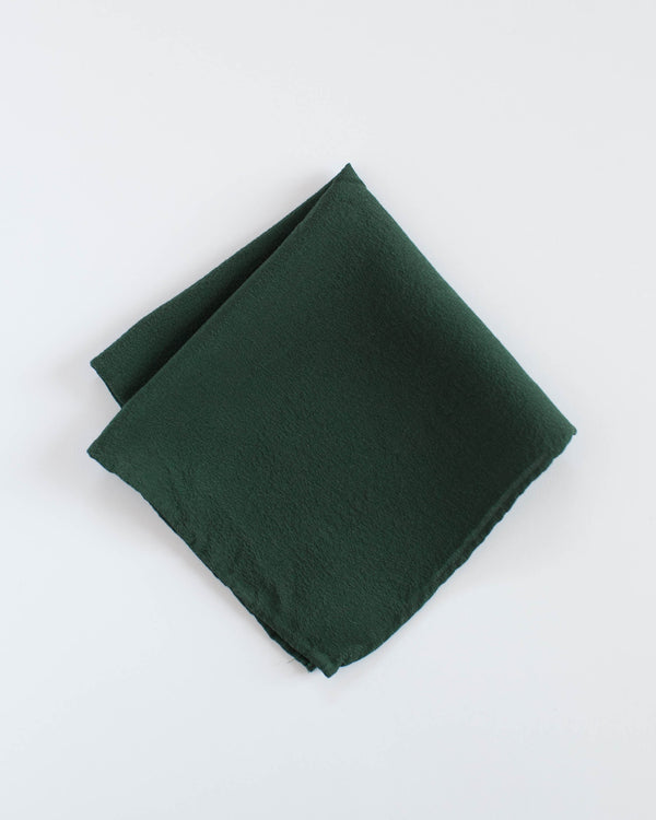 'The Hankie' Washable Silk Scarf in Moss