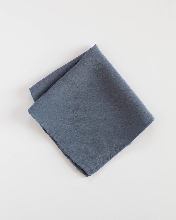 Tono + co Silk Hankie in Sea. Perfect for everyday styling and lovingly hand-dyed in Santa Ana, California. Check out our website for more color, styling, and lookbook inspiration.