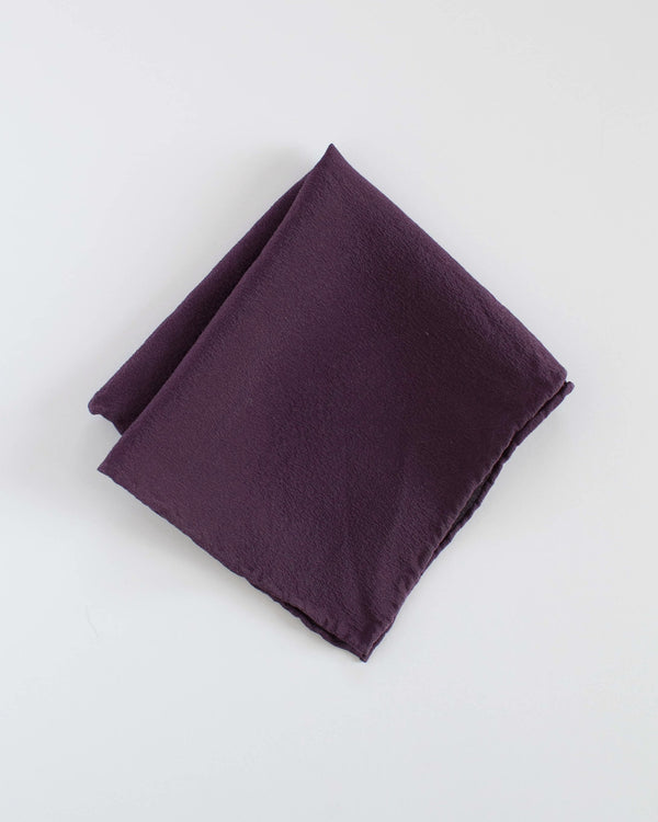 'The Hankie' Washable Silk Scarf in Aubergine