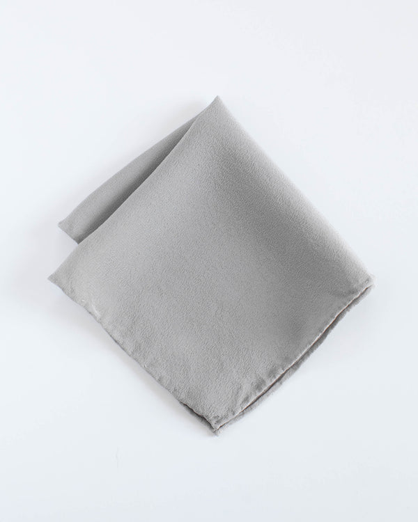 'The Hankie' Washable Silk Scarf in Stone