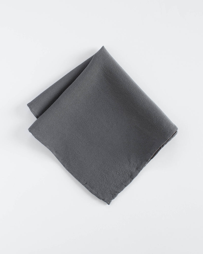 'The Hankie' Washable Silk Scarf in Slate