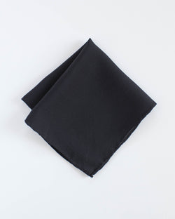 'The Hankie' Washable Silk Scarf in Charcoal