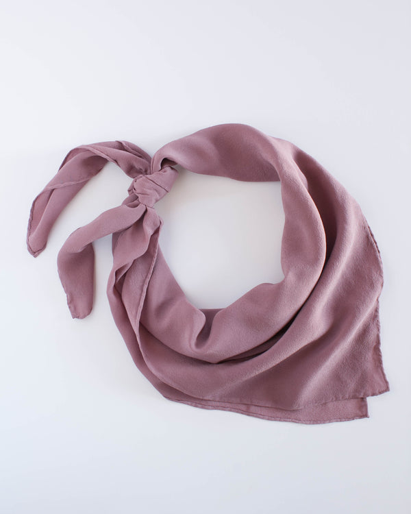 'The Classic' Washable Silk Scarf in Rose