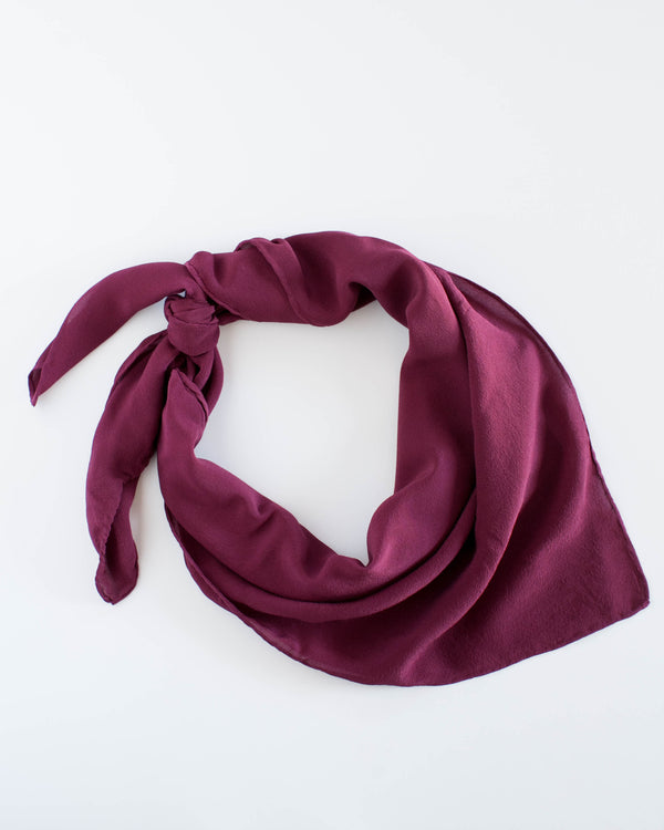 'The Classic' Washable Silk Scarf in Berry
