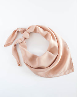 'The Classic' Washable Silk Scarf in Peach