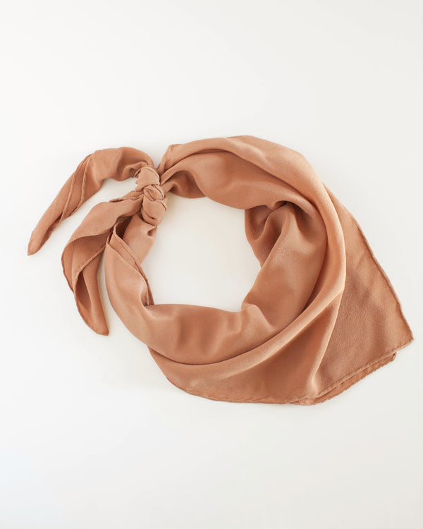 'The Classic' Washable Silk Scarf in Rose Gold