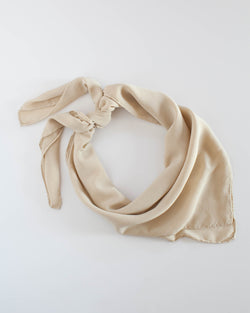 'The Classic' Washable Silk Scarf in Cream