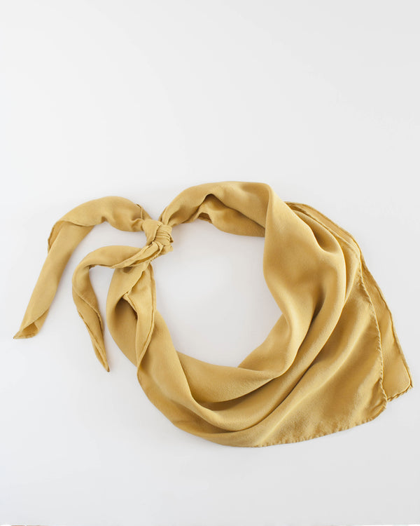 'The Classic' Washable Silk Scarf in Honey