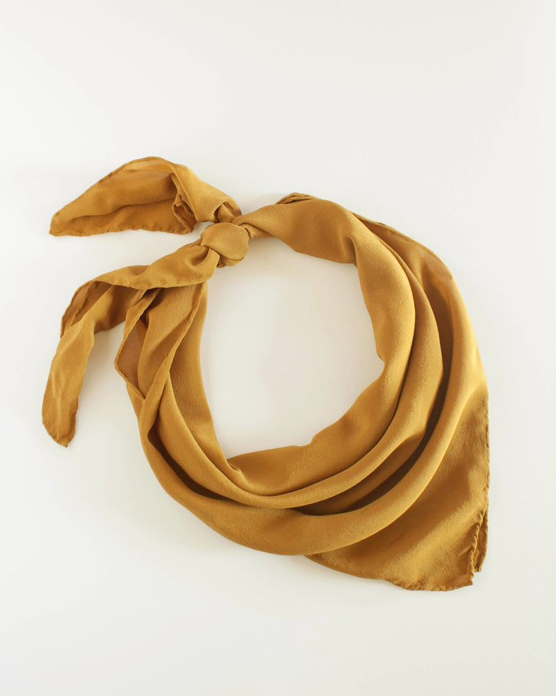 'The Classic' Washable Silk Scarf in Oro