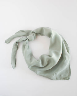 'The Classic' Washable Silk Scarf in Sage