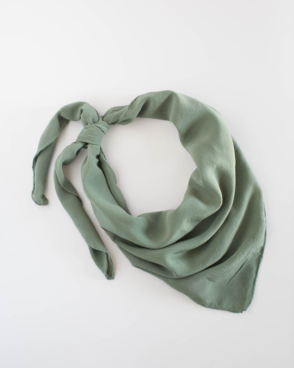 'The Classic' Washable Silk Scarf in Fern