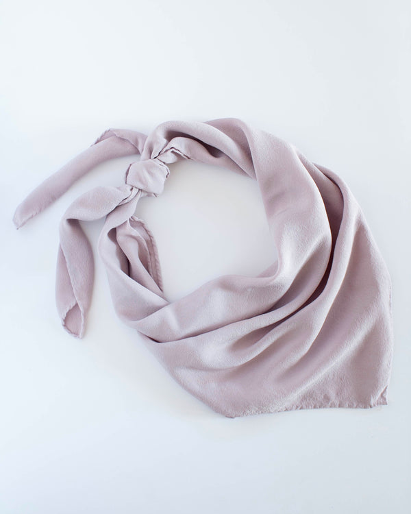 'The Classic' Washable Silk Scarf in Lilac