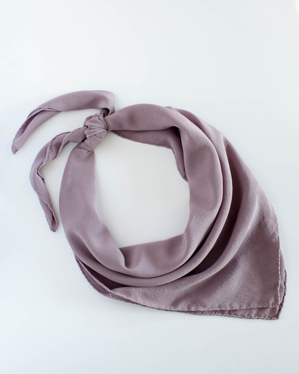 'The Classic' Washable Silk Scarf in Mauve