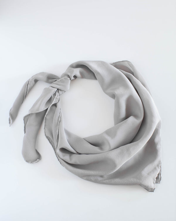'The Classic' Washable Silk Scarf in Stone