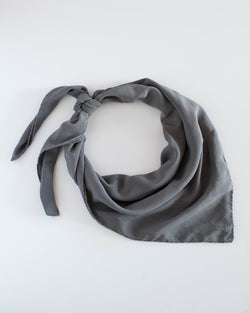 'The Classic' Washable Silk Scarf in Slate