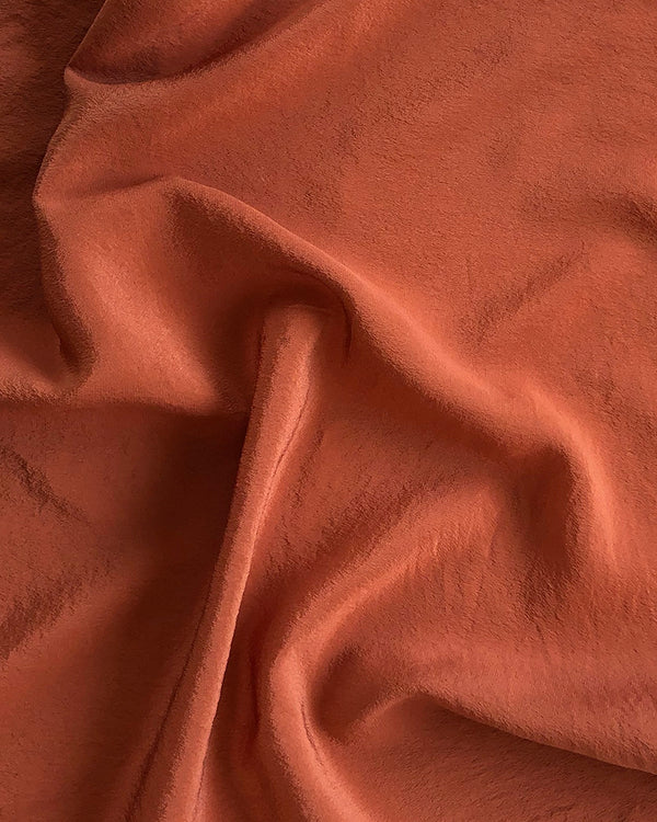 'The Hankie' Washable Silk Scarf in Terra Cotta