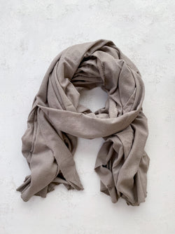 Washable Silk Blanket Scarf in Dove
