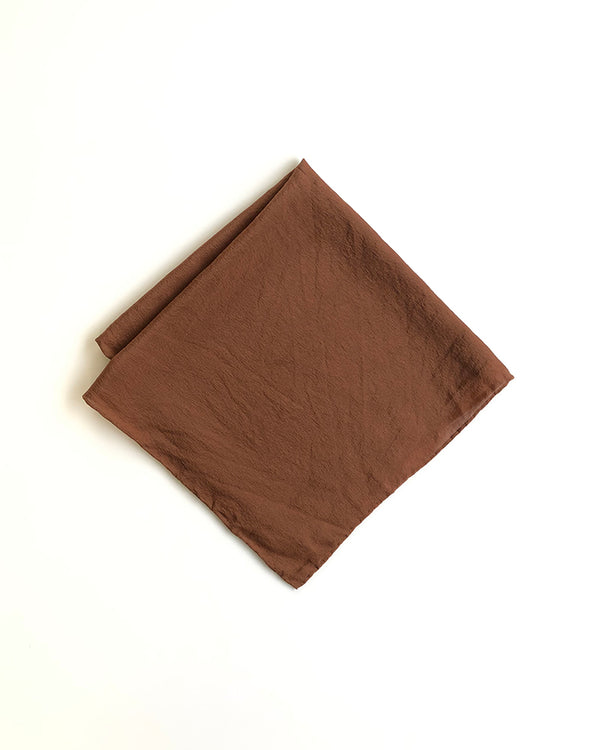 'The Hankie' Washable Silk Scarf in Pecan