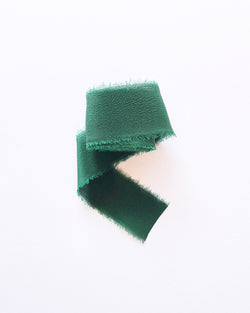 Emerald Green Silk Classic Ribbon 035