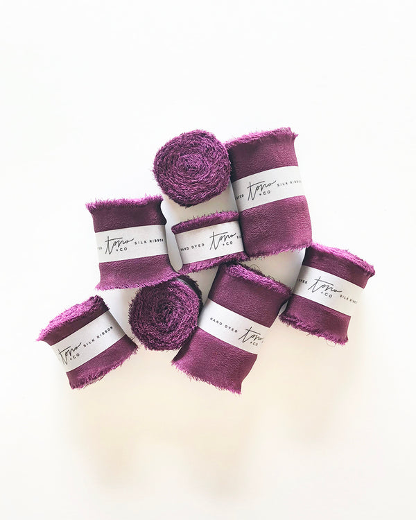 Purple Silk Classic Ribbon 038
