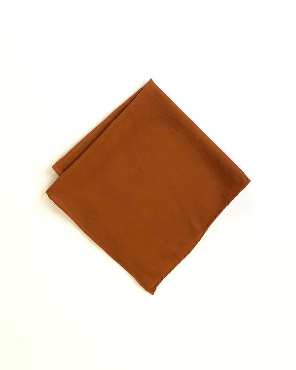 'The Hankie' Washable Silk Scarf in Rust