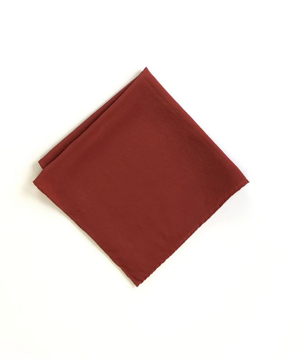 Ruby Red Silk Hankie Scarf 217