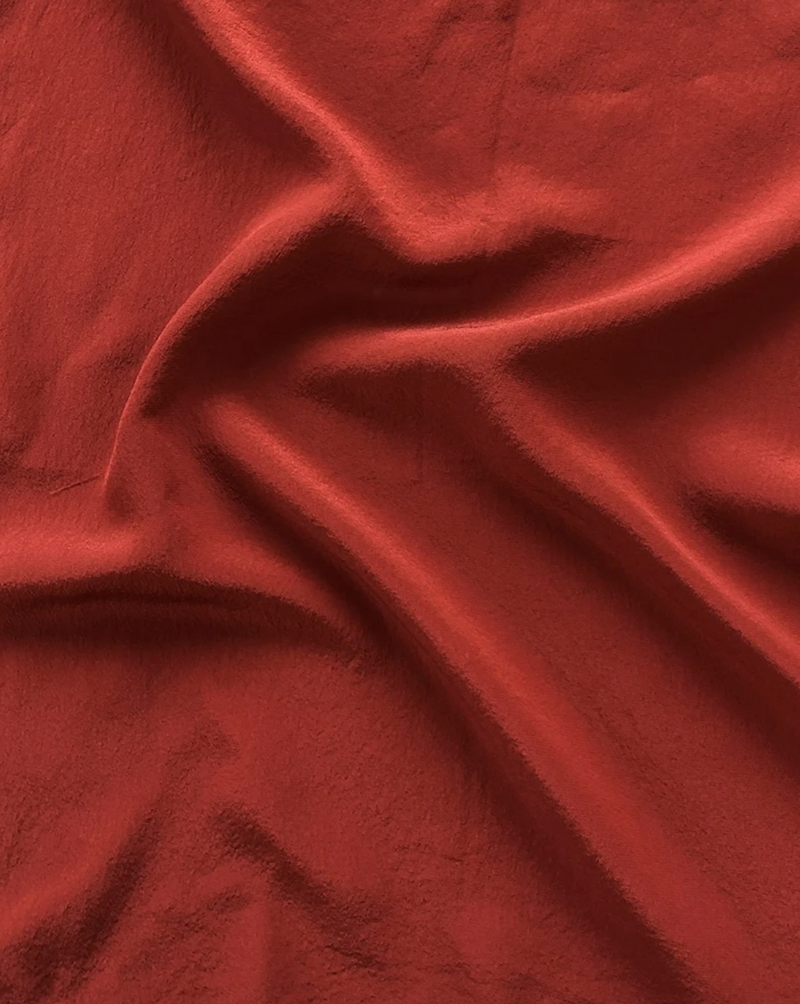 Ruby Red Silk Scarf 217