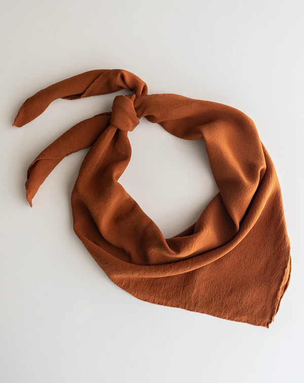 Rusty Orange Silk Scarf 'The Classic' 236