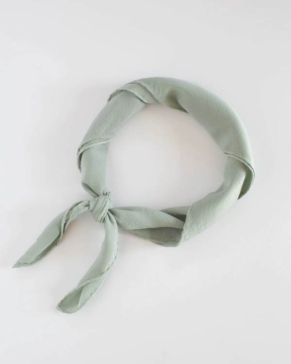 Sage Green Silk Scarf 'The Scout' 248