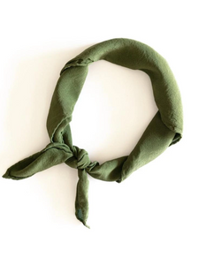 Olive Silk Scarf 'The Scout' 258
