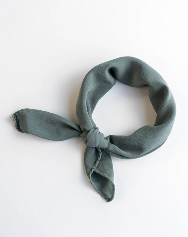 Lake Blue Silk Scarf 'The Scout' 272