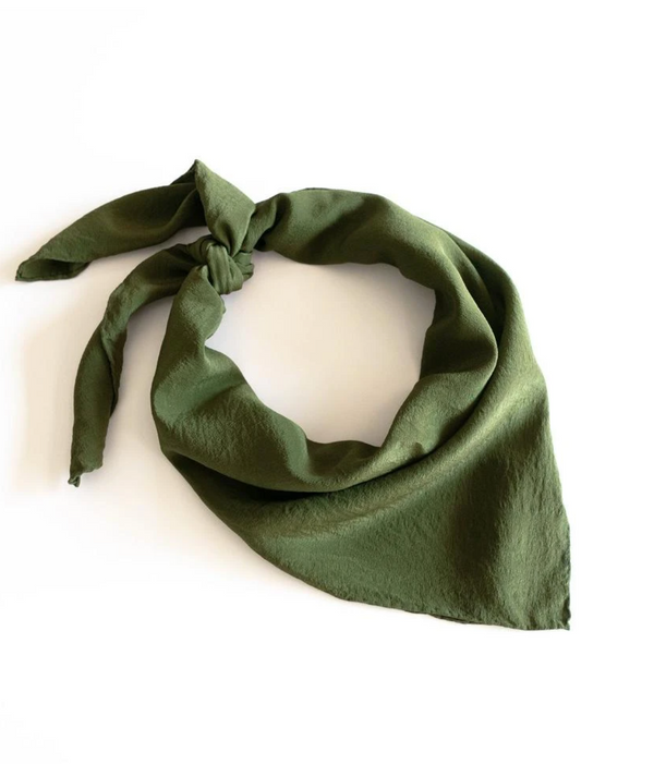 Olive Silk Scarf 'The Classic' 259