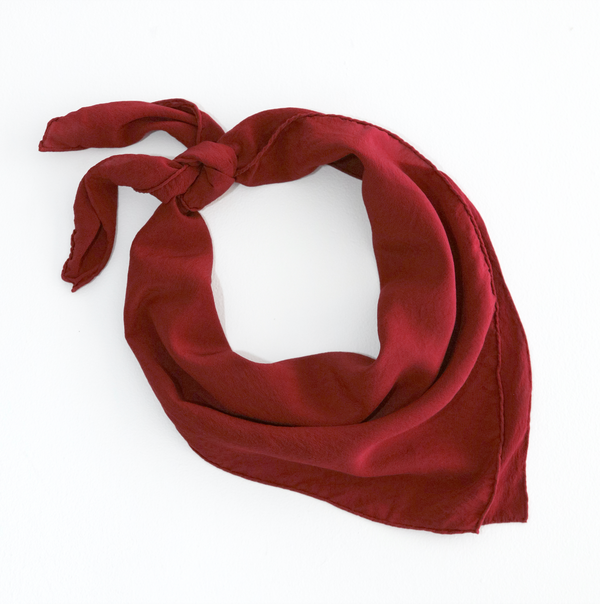 'The Classic' Washable Silk Scarf in Poppy