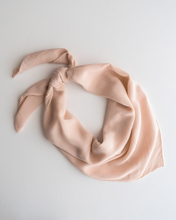 'The Classic' Washable Silk Scarf in Champagne