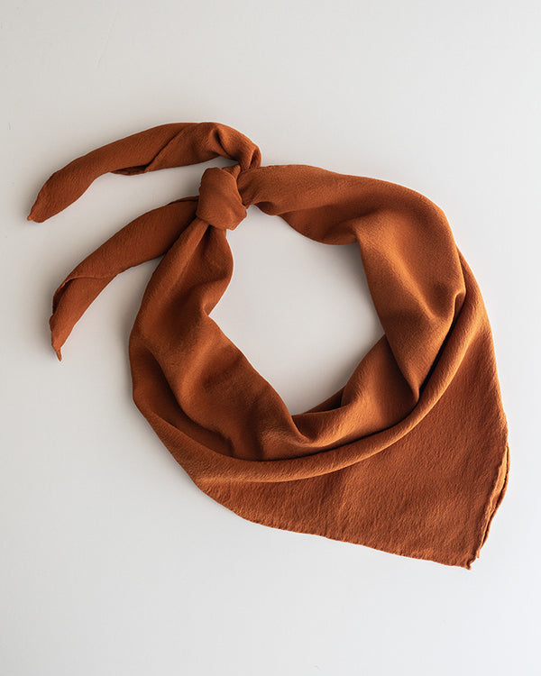 'The Classic' Washable Silk Scarf in Rust