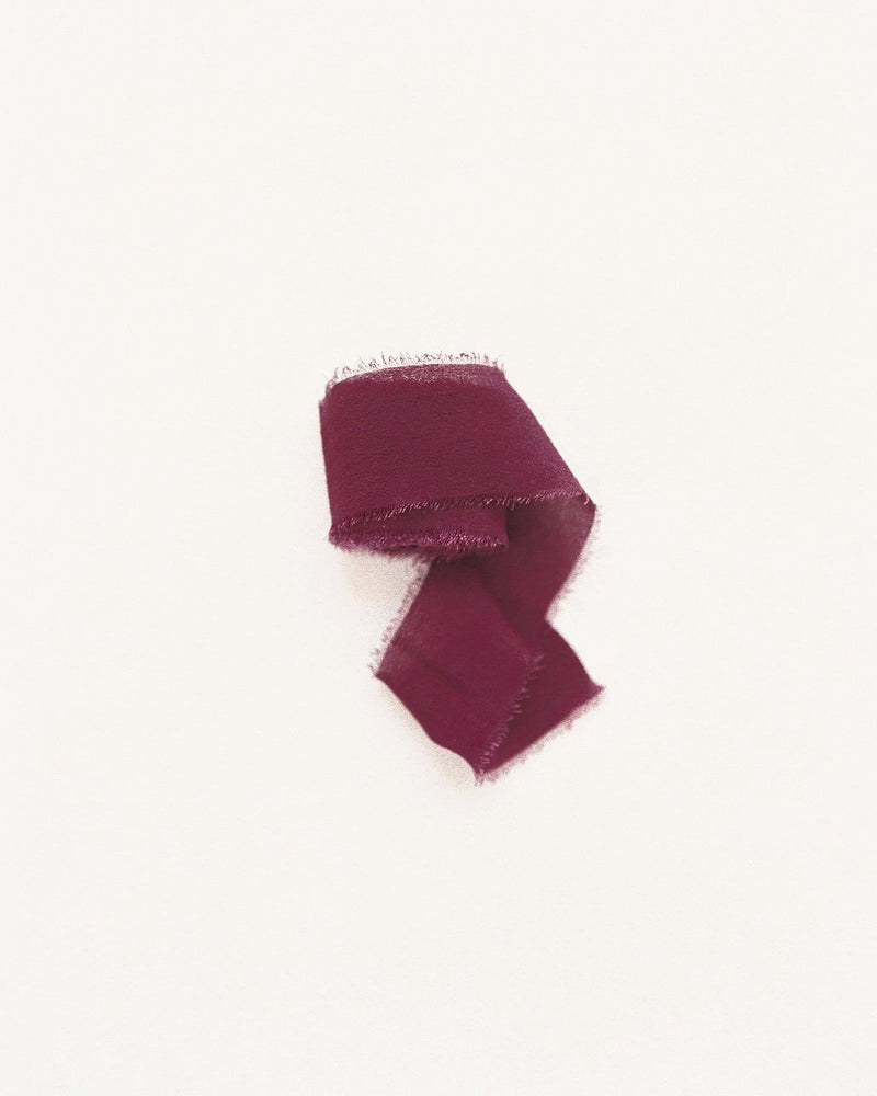Classic Silk Ribbon in Berry