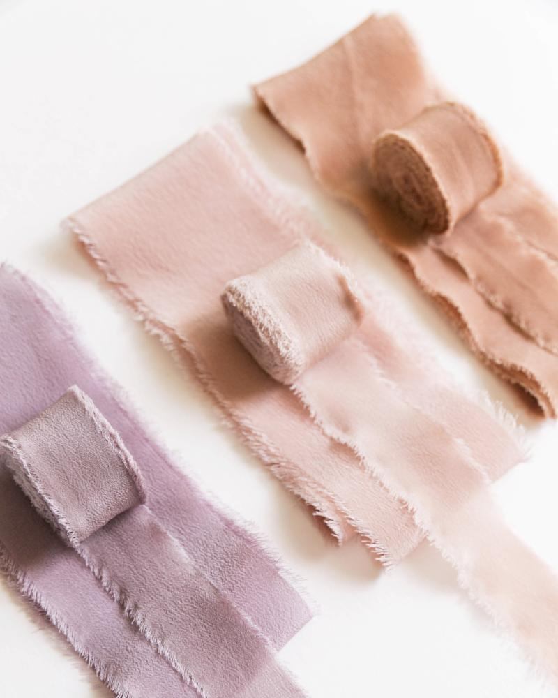 Tono + co Classic Silk Ribbon, featuring favorites from the Earth + Lavender Collections. Find your inspiration through color and silk. Lovingly hand-dyed in Santa Ana, California and available in 24 signature colors.