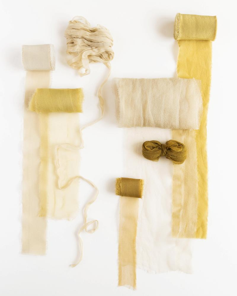 Tono + co Classic and Gossamer Silk Ribbon bundles, featuring favorites from the Golden Collection. Find your inspiration through color and silk. Lovingly hand-dyed in Santa Ana, California and available in 24 signature colors. Check out our website for more styling and color tips.