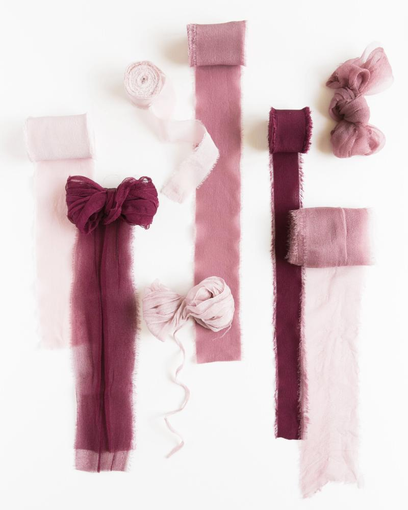 Classic Silk Ribbon in Rose