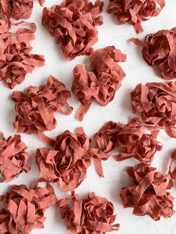 Coral Silk Ribbon Trim 218