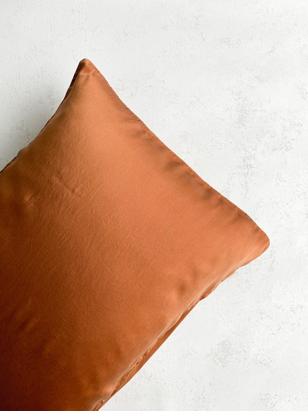 Silk Pillowcase in Rust