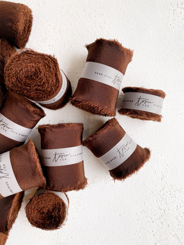 Chocolate Brown Silk Classic Ribbon 043